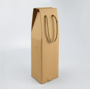 Wine Packaging Boxes Kraft Paper Gift Boxes with String Hanger