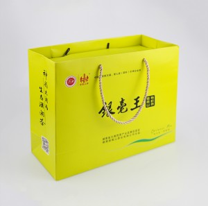 Book Shape Magnetic Cardboard Tea Gift Box with Hangbag