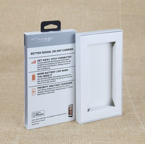 White Smart Phone Case Paper Packaging  Box with Hook iphone Case Box