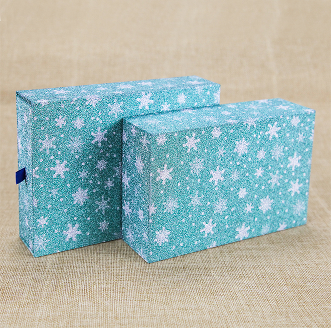 Blue Star Logo Printing Cardboard Gift Packaging Box Drawer Gift Box with Ribbon Featured Image