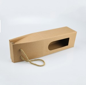 Kraft Paper Gift Packaging for Wine Bottle Hangbag Packaging Gift Boxes