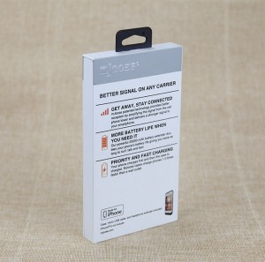 Mobile Phone Case Paper Box Retail Box with Hook  Custom Logo Printing