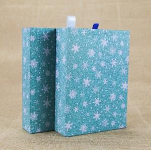 Blue Star Logo Printing Cardboard Gift Packaging Box Drawer Gift Box with Ribbon