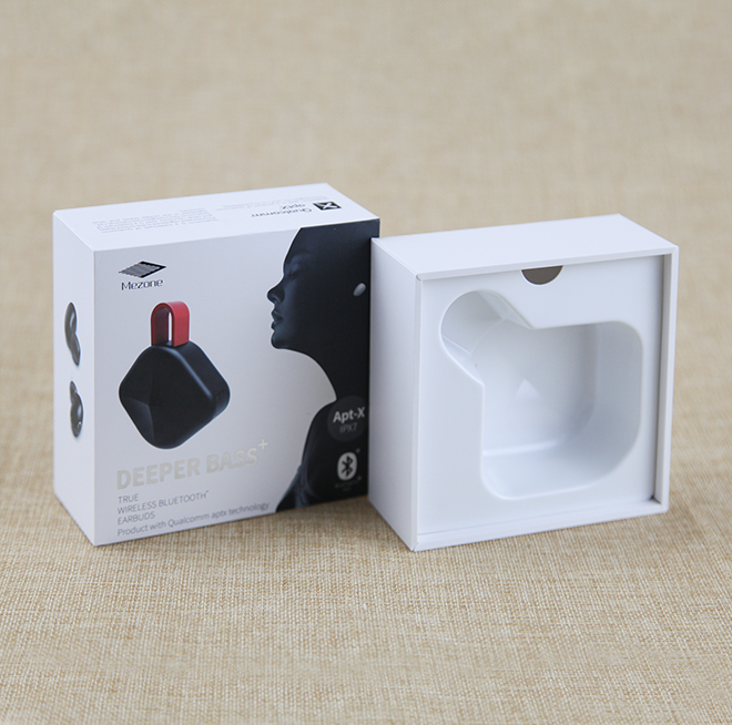 Retail Earphone Packaging Box with Tray Custom Design Headphone Gift Box Featured Image