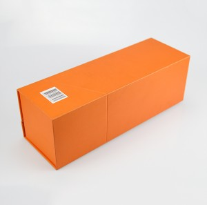 Cheap Price Eco-friendly Orange Cardboard Wine Packaging Gift Box