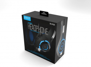 Gathe paper packaging box for headsets