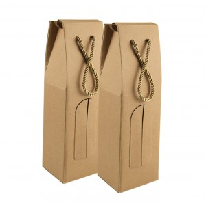 100% Original Factory China Special Design Custom Paper Packaging Wine Beverage Drinks Box