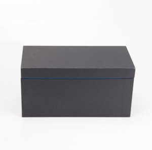 Black Cardboard Paper Gift Packaging Box with EVA