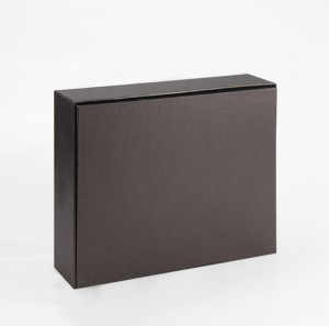 Black Paper Gift Box Cardboard Rigid Paper Packaging for Clothes