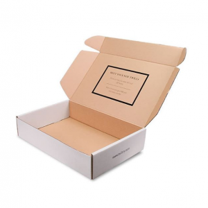Custom Printed White Corrugated Cardboard Carton Paper Packaging Box