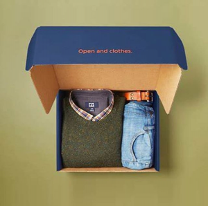 Blue Corrugated Packaging Gift Boxes