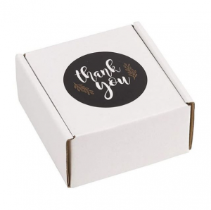 White Corrugated Packaging Gift Boxes