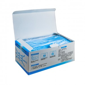 3 Ply Non Woven Fabrics Blue Disposable Face Masks in Stock