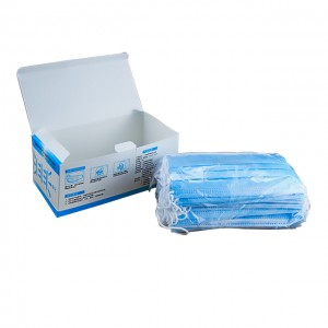 Wholesale 3 Ply Non Woven Fabrics Blue Disposable Face Masks in Stock