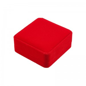Luxurious Red Jewelry Gift Box Bracelet Gift Box Velvet Jewelry Packaging Box