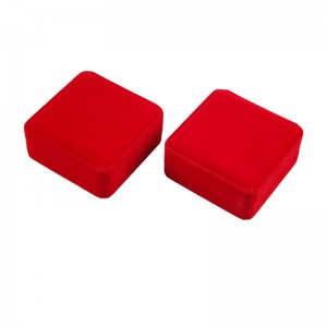 Luxurious Velvet Jewelry Packaging Box Red Jewelry Gift Box Bracelet Gift Box