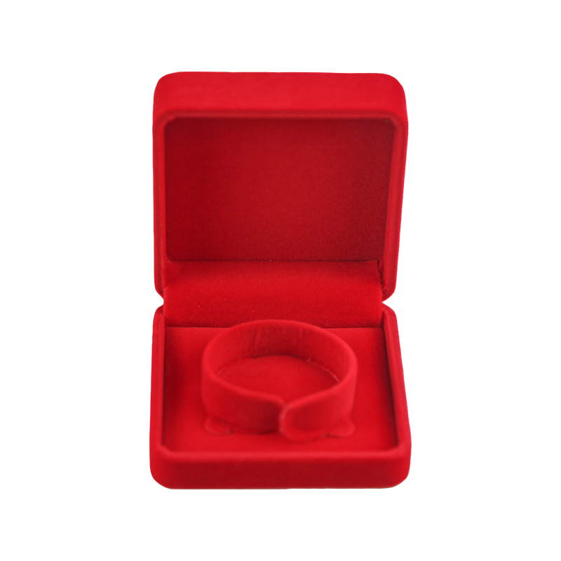 Customized Luxurious Velvet Bracelet Gift Box Jewelry Packaging Box Red Jewelry Gift Box Featured Image