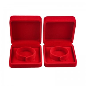 Customized Luxurious Velvet Bracelet Gift Box Jewelry Packaging Box Red Jewelry Gift Box