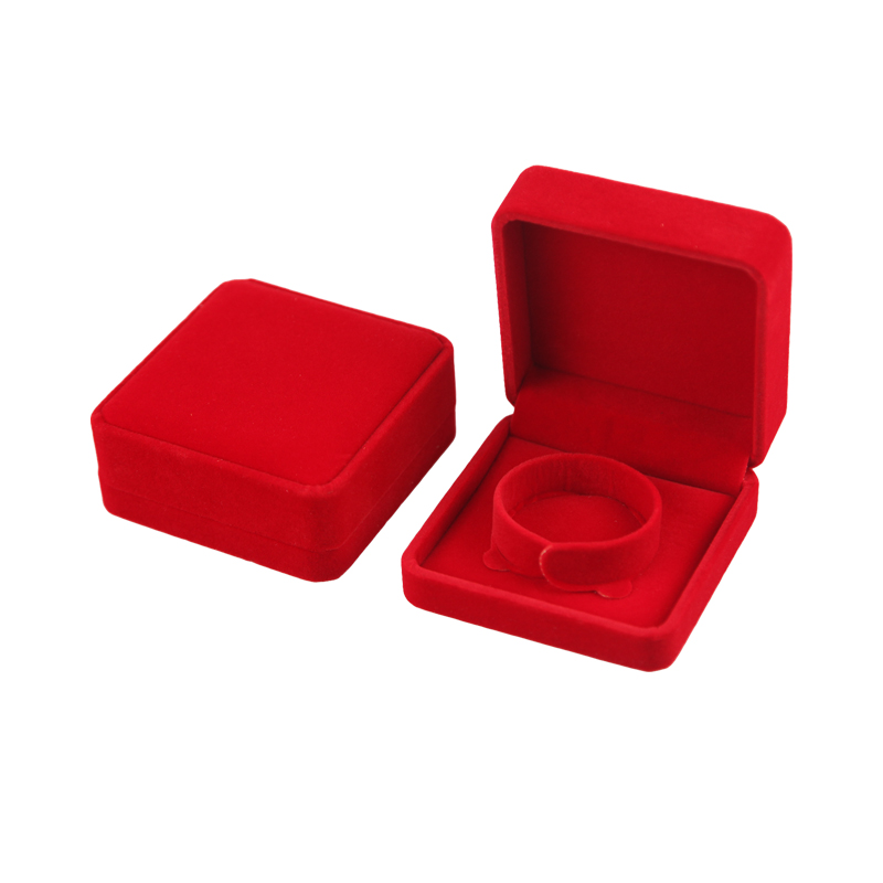 Factory Price Velvet Bracelet Gift Box Jewelry Packaging Box Red Jewelry Gift Box Featured Image