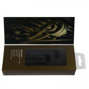 Wholesale Price China 12 Years Customize Luxury Matte Lamination Elegant Black Cardboard Bluetooth Earphone Packaging Paper Boxes