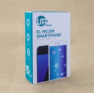 Blue Cardboard Gift Box Smart Phone Paper Packaging