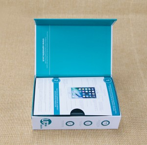 Book Shape Magnetic Mobile Phone Box Cell Phone Gift Box