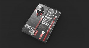 Hot Stamping Box Packaging Magnetic Gift Box for USB cables popular design